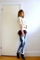 blazer - jeans - accessories - boots