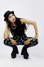 Unif-boots-h-m-hat-ebay-leggings