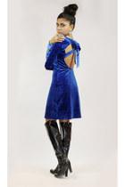 franco sarto boots - romwe dress - Forever 21 earrings
