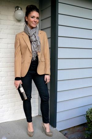 thrifted vintage blazer - Forever 21 scarf - Zigi Soho pumps