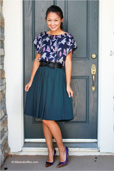 ADAM blouse - banana republic skirt - Prada pumps