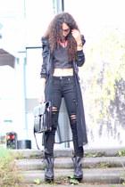 black Mostwanted boots - black Seven jeans - black Vila jacket