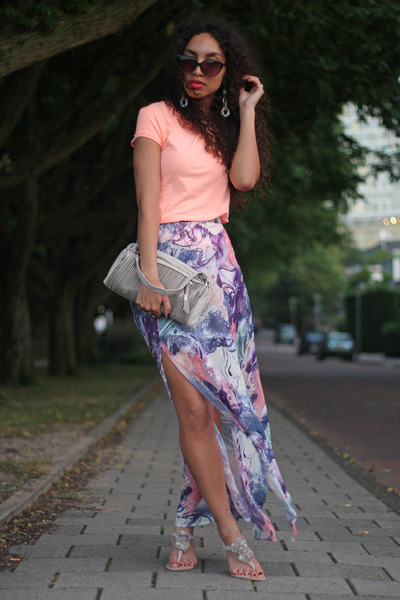 light purple inlovewithfashion skirt - off white Glamorous bag