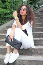 white Inwear jeans - white chiffon long Choies blazer