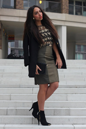 black Steve Madden shoes - black vintage blazer - black Primark top
