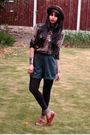 Brown-vintage-shoes-black-ebay-leggings-green-vintage-shorts-brown-belt-