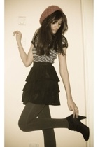 H&M skirt - H&M hat - unknown brand tights - H&M top