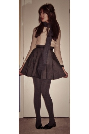 Topshop sweater - unknown brand skirt - tights