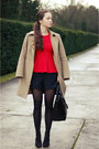 Tan-benetton-coat-charcoal-gray-h-m-tights-black-zara-bag