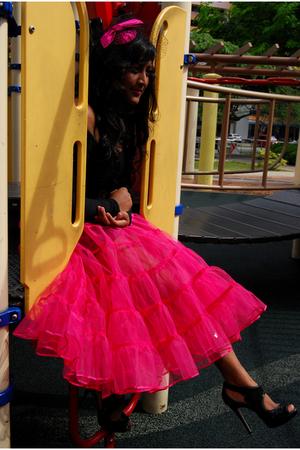 Topshop hat - American Apparel dress - Ebay skirt