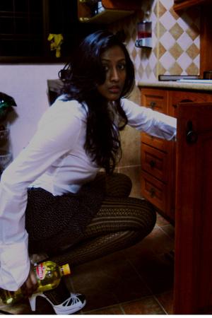 dior homme shirt - Topshop skirt - H&M tights - Topshop shoes