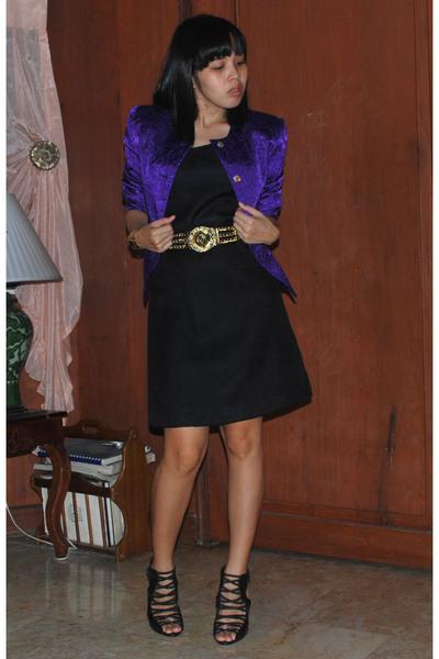 vintage jacket - dress - Cintura belt - Urbanogcom shoes