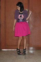 SOLO cropped jacket - Mango top - Zara belt - Glitterati Centerstage skirt - sho