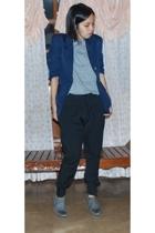 Topman shirt - thrifted blazer - Zara pants - Zara oxford shoes