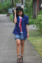 thrifted blazer - Zara shirt - Mango skirt - Forever 21 shoes