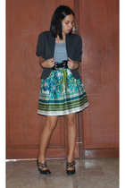 Arden B - belt - Museum Clothing skirt - Aldo shoes
