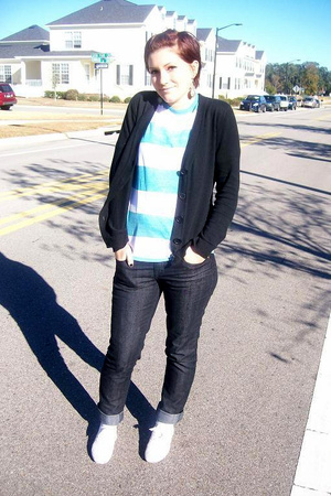 Target sweater - Brothers Closet shirt - f21 jeans - Goodwill shoes