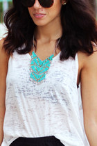 beads Turquoise Necklace necklace