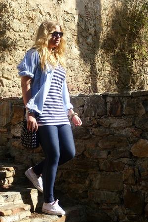 top - leggings - shoes - purse