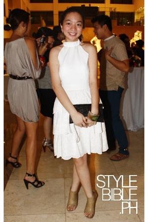 Gabrielle dress - Mango bracelet - CMG shoes - accessories