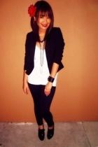 Goodwill blazer - H&M shirt - Claires accessories