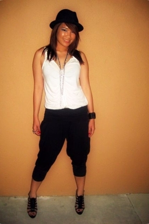forever 21 pants - Old Navy shirt - hat