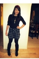 Gap shirt - Nordstrom skirt - Wet Seal shoes - Betsey Johnson tights - forever 2