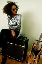 Marsha Furst blouse - Raen Optics sunglasses