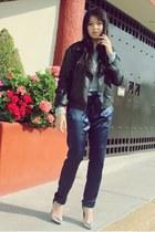 Zara heels - LOB jacket - Zara pants - BCBG sweatshirt