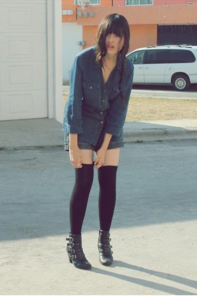 LOB boots - c&a shorts - Julio blouse