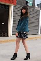 vintage jacket - LOB boots - Ivonne dress - Zara blouse