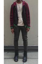 D&G jacket - Marc Jacobs t-shirt - H&M jeans - calvin klein boots - Burberry Pro