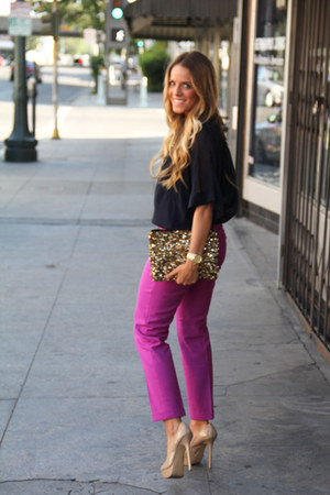 Zara bag - Steve Madden heels - JCrew pants - Michael Kors necklace