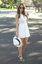 free people dress - American Apparel sunglasses - seychelles wedges