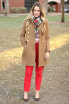 JCrew coat - Forever 21 scarf - Anthropologie pants
