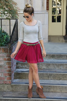 Forever 21 skirt - asos boots - Anthropologie top - Urban Outfitters belt
