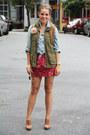 Old-navy-vest-target-top-forever-21-skirt-banana-republic-heels