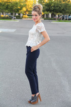Zara top - Forever 21 heels - Zara pants - JCrew accessories