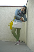 gray Marina Luna vest - white Erin Fetherston for Target skirt - blue Talboots s