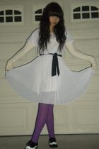 purple Target - beige - purple tights - black Forever 21 shoes