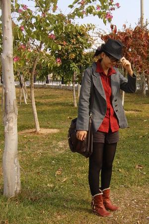 shoes - hat - purse - shorts - top - shirt