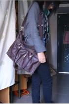 purse - scarf - jeans