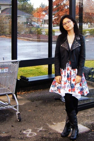 Forever 21 jacket - dress - boots