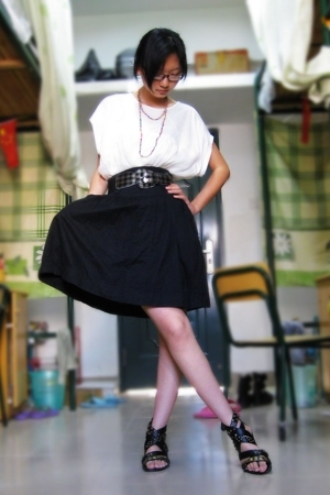 skirt - top - shoes