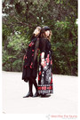 Black-jersey-domonique-echeverria-dress-vintage-halston-jacket