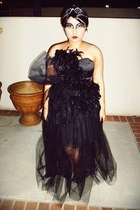 black Jennifer Lopez Kohls skirt - black long tulle tutu DIY skirt