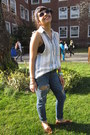 Moms-closet-shirt-ae-jeans-h-m-cardigan-forever21-hair-accessory