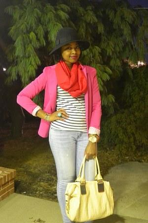 purse - H&M blazer - H&M scarf