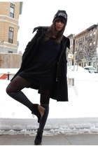 Zara coat - from japan hat - H&M sweater - H&M tights - Charlotte Russe wedges -