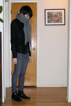gray The Viridi-Anne cardigan - black lace-up ankle Fiorentini  Baker boots